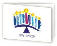 Watercolor Menorah by Sara Berrenson