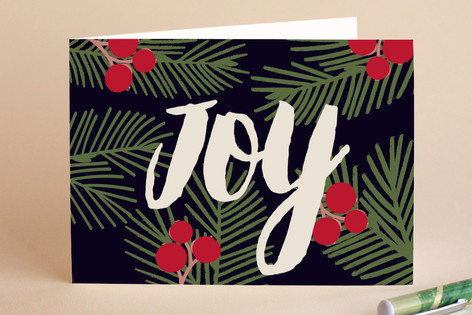 Berries Joy Holiday Cards