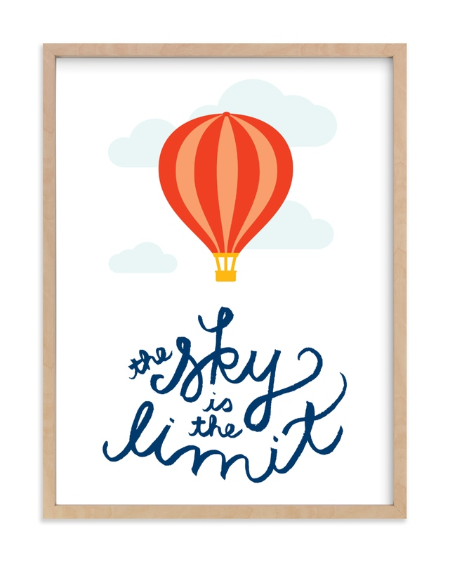"""""""The Sky is the Limit"""" - Art Print by Genna Cowsert in beautiful frame options and a variety of sizes."""
