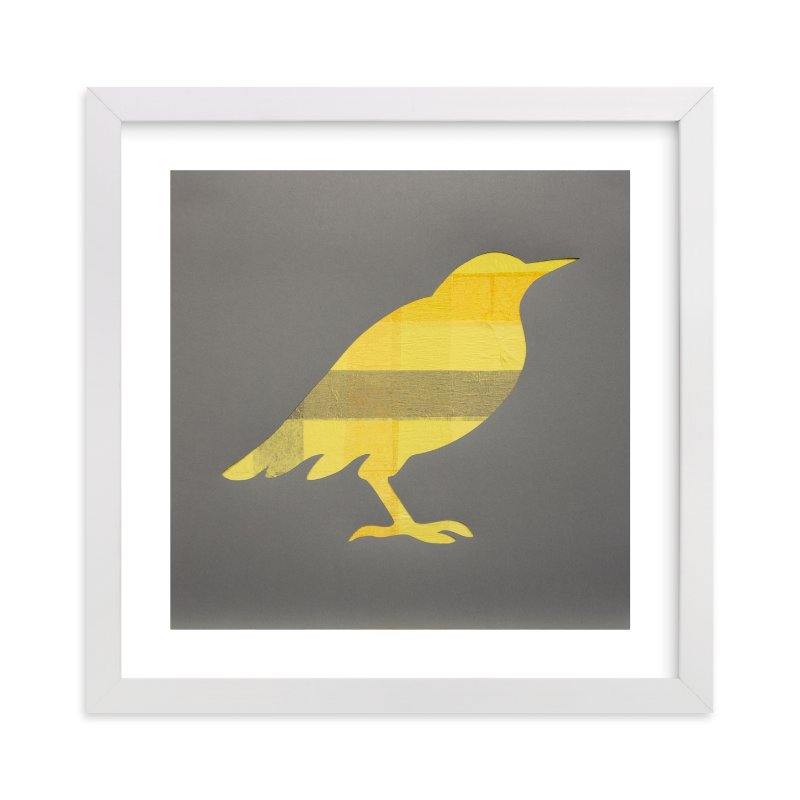 """""""Yellow Bird"""" - Art Print by Jeff Preuss in beautiful frame options and a variety of sizes."""