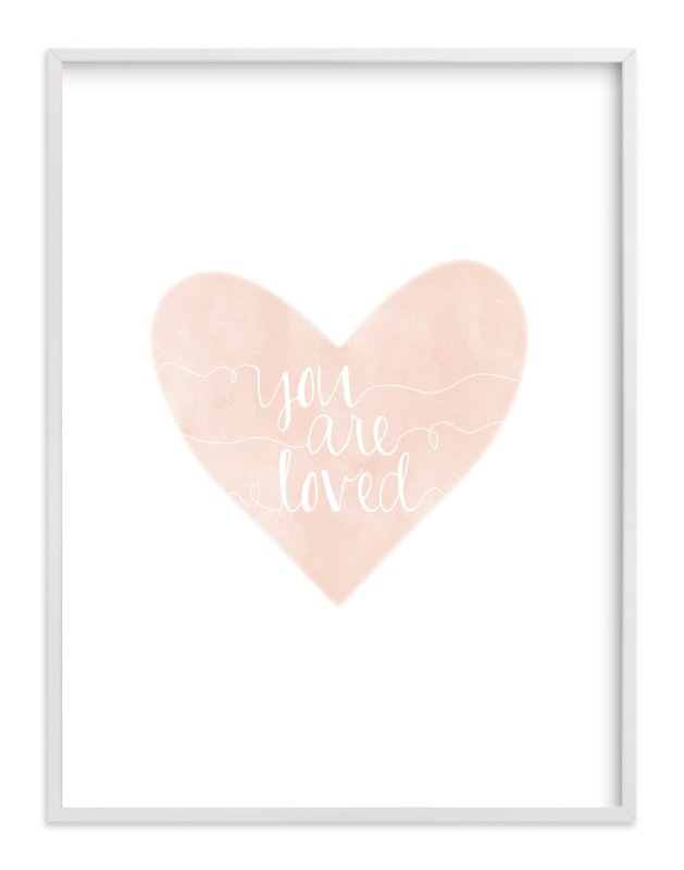 """""""So Loved"""" - Art Print by Kayley Miller in beautiful frame options and a variety of sizes."""