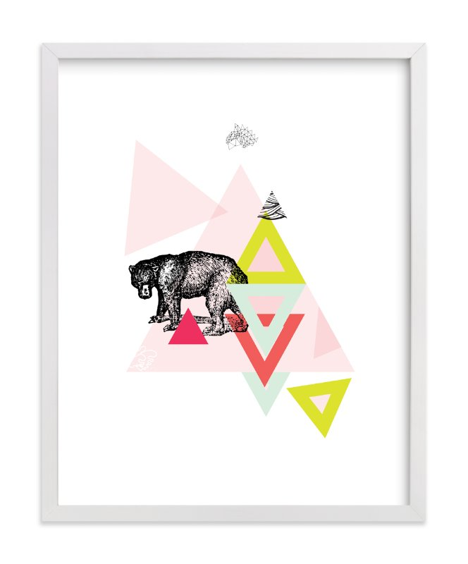 """""""Bear Geo"""" - Art Print by Lady Noble in beautiful frame options and a variety of sizes."""
