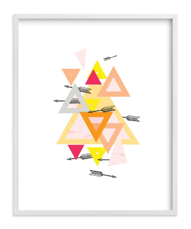 """Arrow Geo"" - Art Print by Lady Noble in beautiful frame options and a variety of sizes."
