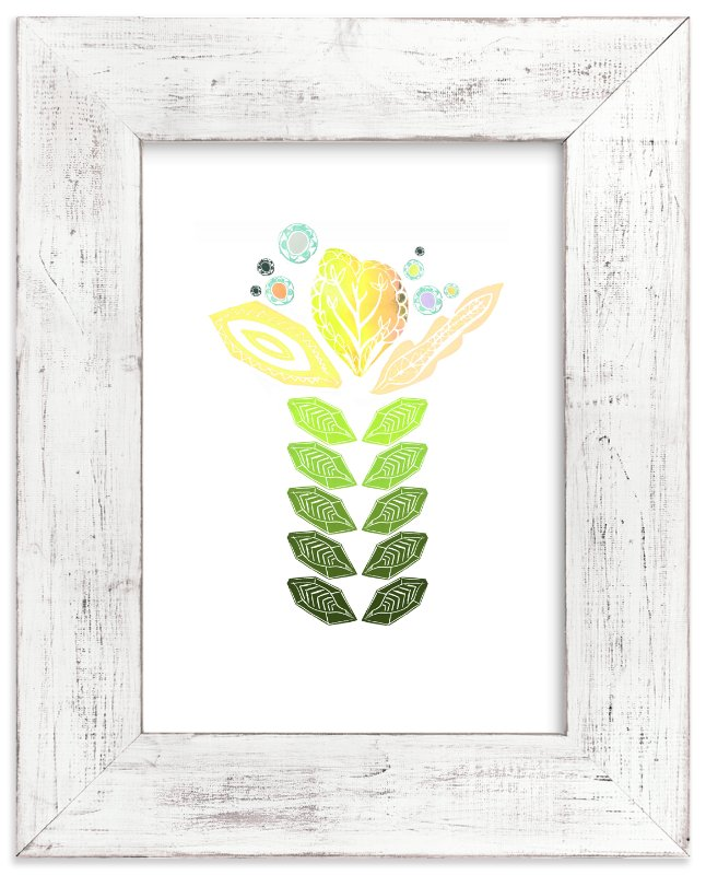 """Tall Flower"" - Art Print by Debra Bianculli in beautiful frame options and a variety of sizes."