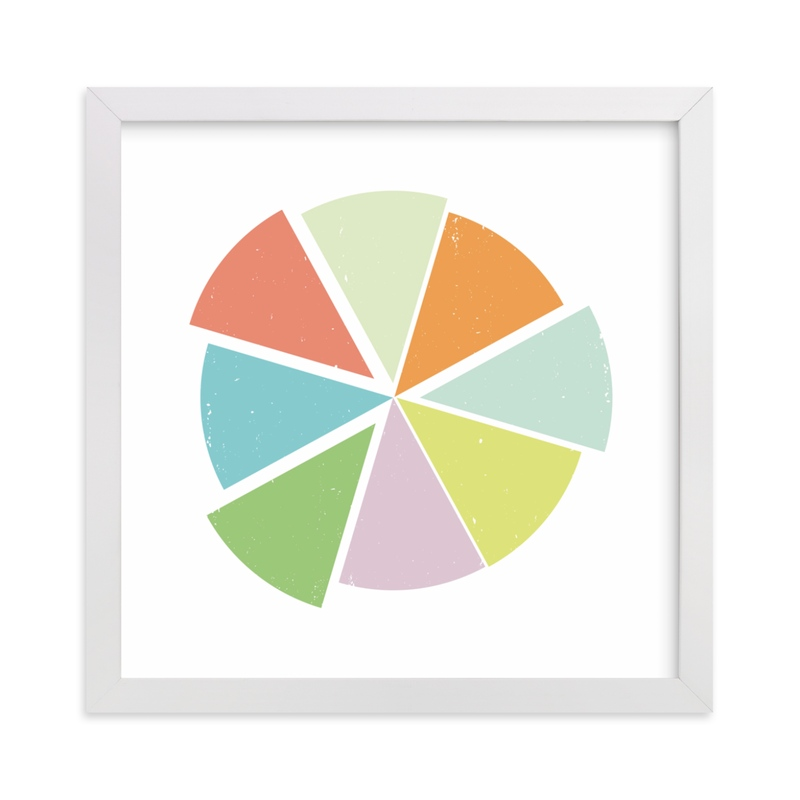 """""""Piece of the Pie"""" - Art Print by Design Lotus in beautiful frame options and a variety of sizes."""