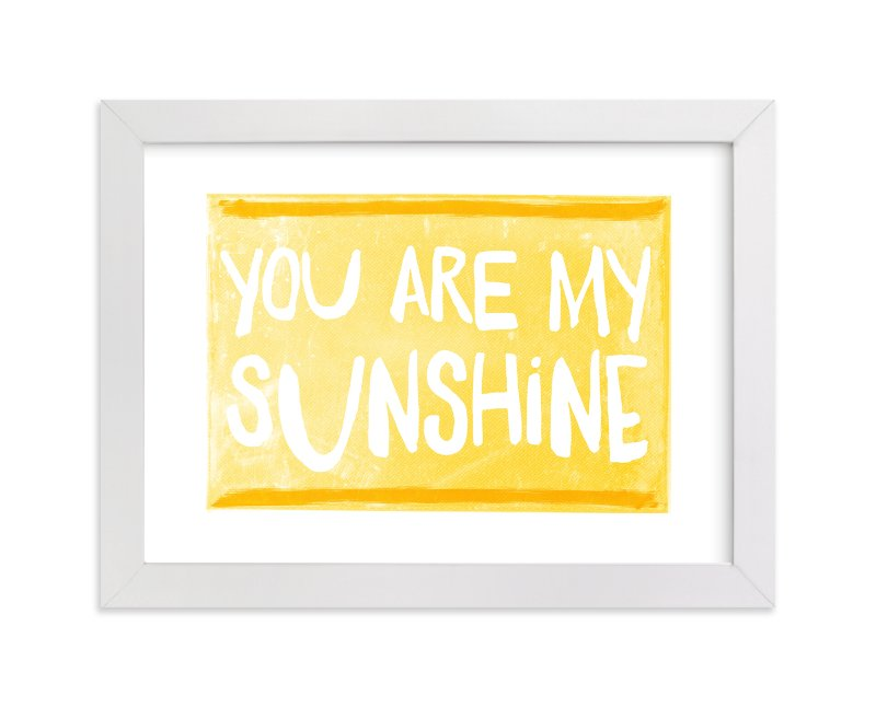 """My Sunshine Love"" - Art Print by Paper Dahlia in beautiful frame options and a variety of sizes."