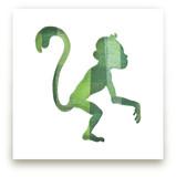 Green Party Monkey by Jeff Preuss