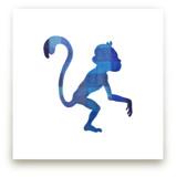 Blue Party Monkey by Jeff Preuss