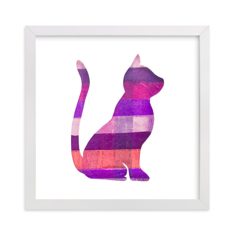 """""""Pink Party Kitty"""" - Art Print by Jeff Preuss in beautiful frame options and a variety of sizes."""