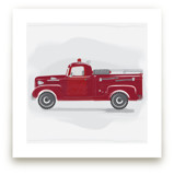 Fire Truck Grey 2 by Rebecca Marchese