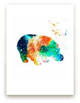 Happy Happy Hippo Wall Art Prints