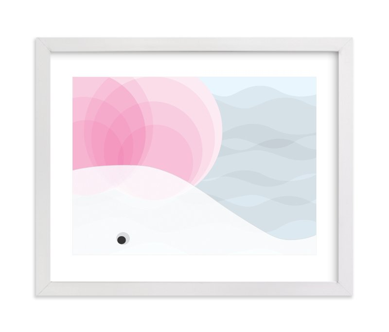 """""""White Whale"""" - Art Print by Aga in beautiful frame options and a variety of sizes."""