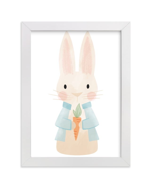 """""""Peter Rabbit"""" - Art Print by Jessie Steury in beautiful frame options and a variety of sizes."""