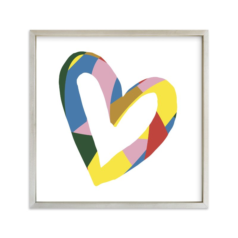 """""""Heart - Be Bright"""" - Art Print by Christina Flowers in beautiful frame options and a variety of sizes."""