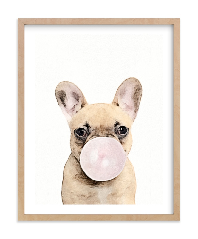 Bubblegum Animals: Dog Self-Launch Children's Art Print
