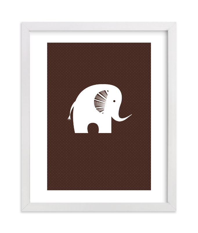 """Sophisticated Elephant"" - Art Print by three percent milk in beautiful frame options and a variety of sizes."