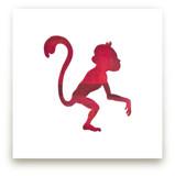 Red Party Monkey by Jeff Preuss