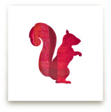 Red Party Squirrel by Jeff Preuss