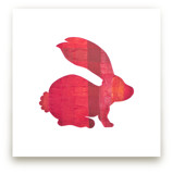 Red Party Bunny by Jeff Preuss