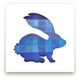 Blue Party Bunny by Jeff Preuss