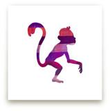 Pink Party Monkey by Jeff Preuss