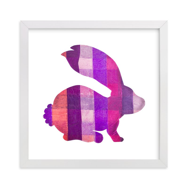 """""""Pink Party Bunny"""" - Art Print by Jeff Preuss in beautiful frame options and a variety of sizes."""