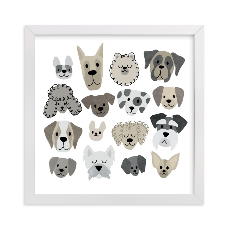 """""""Darling Doggies """" - Art Print by Jessie Steury in beautiful frame options and a variety of sizes."""