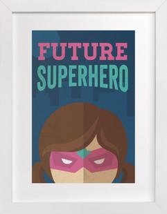 She's A Future Superhero Self-Launch Children's Art Print