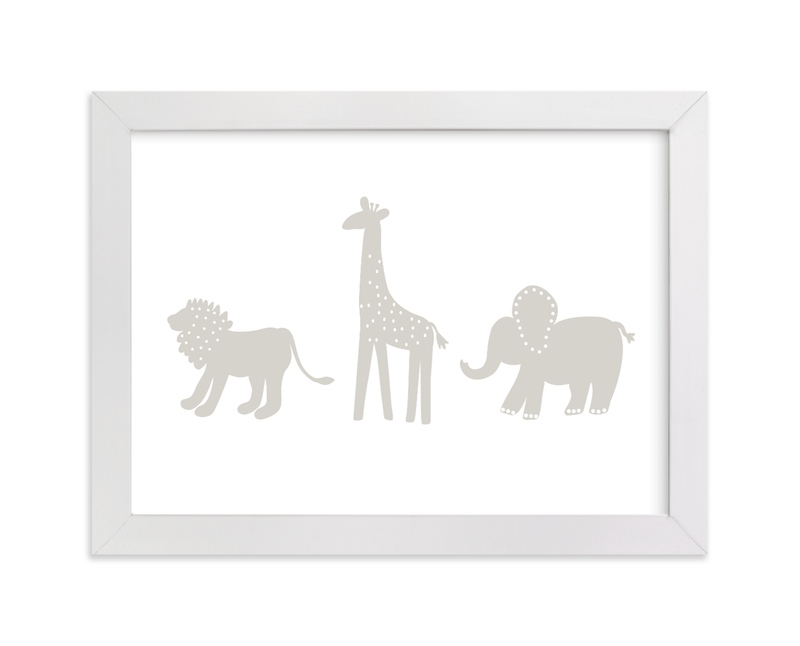 """""""Animal Land"""" - Art Print by Jennifer Holbrook in beautiful frame options and a variety of sizes."""