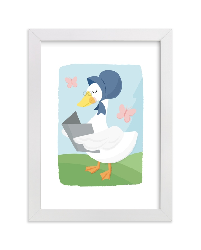 """Mother Goose"" - Art Print by Jessie Steury in beautiful frame options and a variety of sizes."