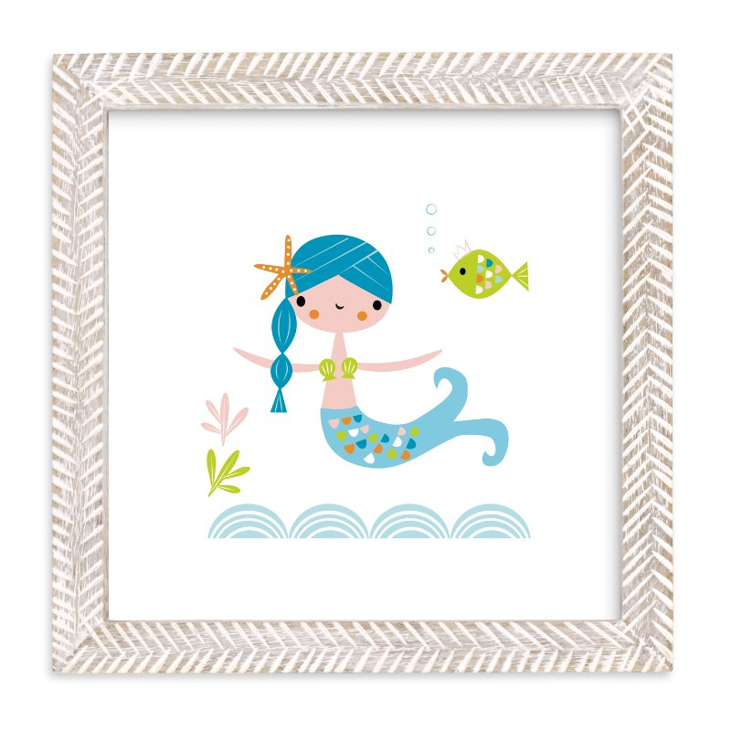 """""""Blue Mermaid"""" - Art Print by Shannon Hays in beautiful frame options and a variety of sizes."""