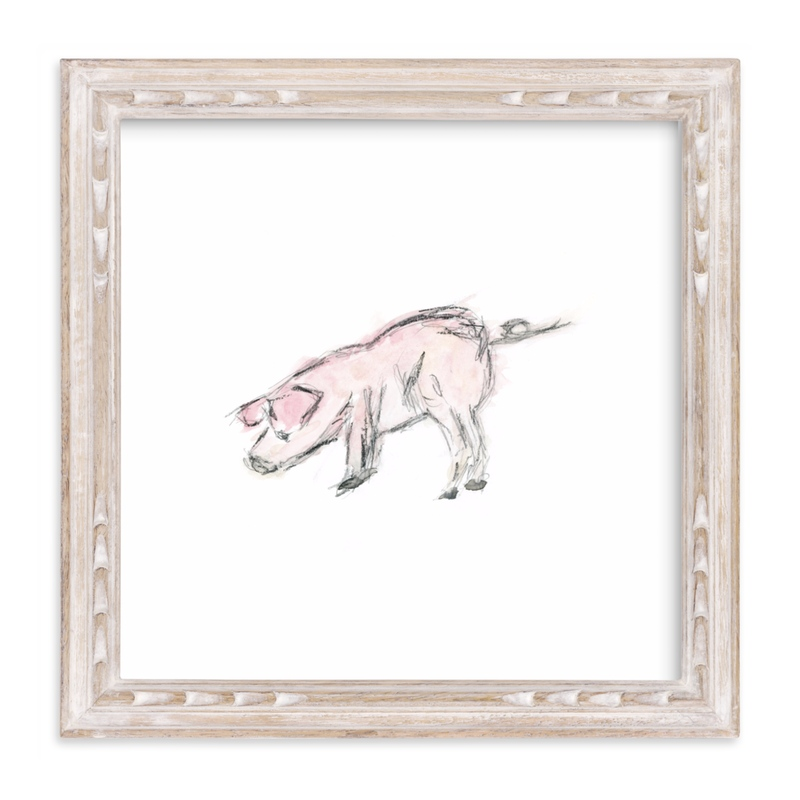 """""""This Little Piggie"""" - Art Print by Mande Calhoun in beautiful frame options and a variety of sizes."""