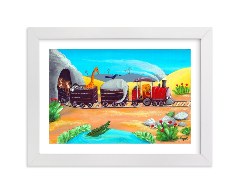 """""""Amazing Journey"""" - Art Print by Aga in beautiful frame options and a variety of sizes."""