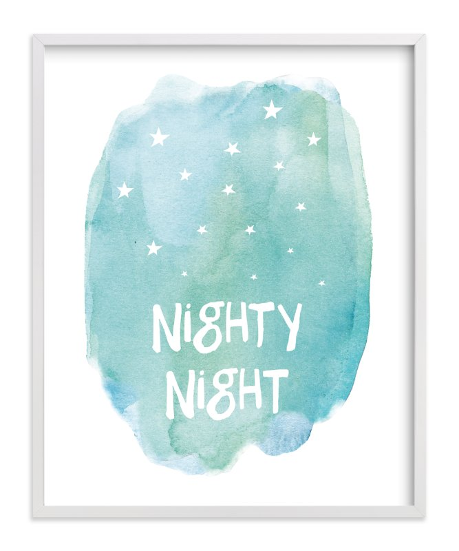 """Nighty Night"" - Art Print by Amy Hall in beautiful frame options and a variety of sizes."