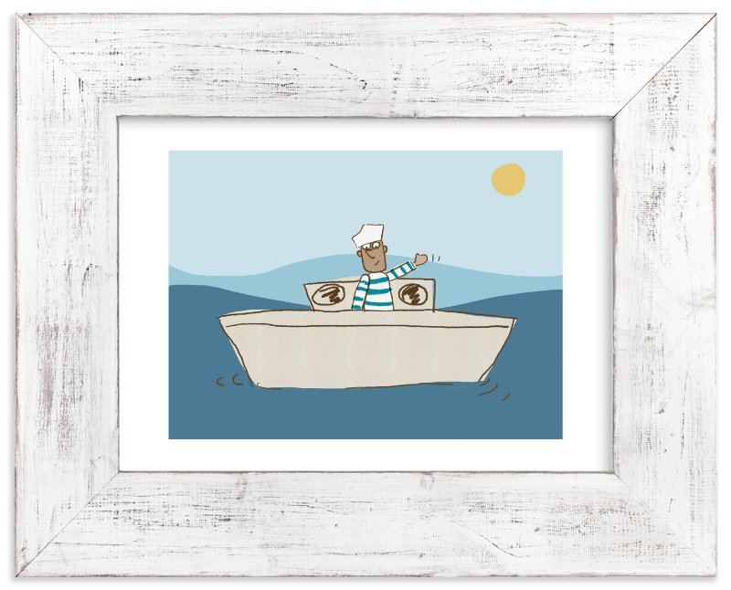 """Friendly sailor"" - Art Print by Sandy Mitchell in beautiful frame options and a variety of sizes."
