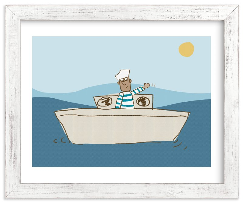 """""""Friendly sailor"""" - Art Print by Sandy Mitchell in beautiful frame options and a variety of sizes."""