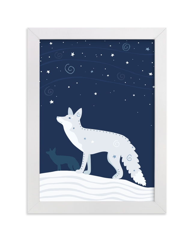 """Look at the Stars 6 Fox"" - Art Print by Jennifer Holbrook in beautiful frame options and a variety of sizes."