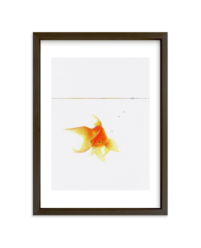"""Aquatic High Jump 4"" - Art Print by Deborah Chou in beautiful frame options and a variety of sizes."