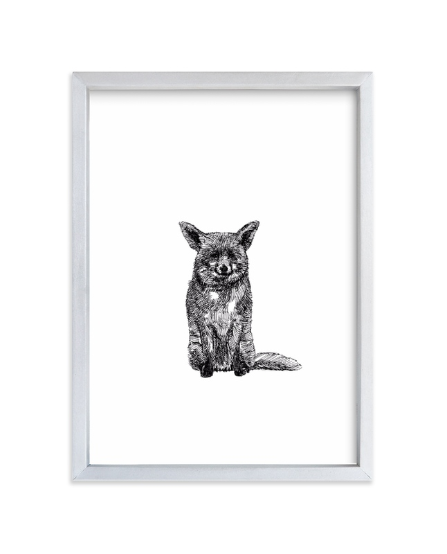 """""""Renard"""" - Art Print by IMG_101 in beautiful frame options and a variety of sizes."""