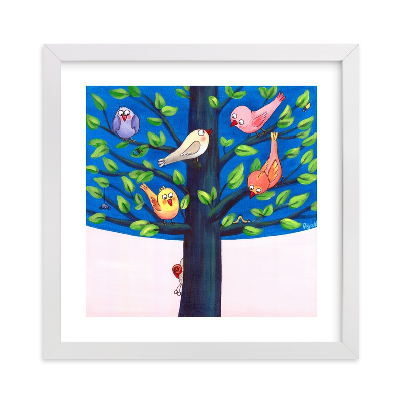 """""""Birdy Tree"""" - Art Print by Aga in beautiful frame options and a variety of sizes."""
