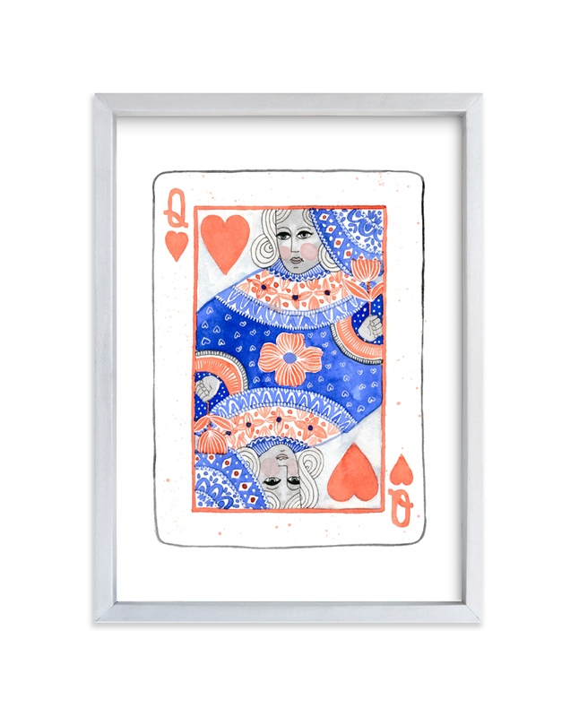 """""""The Queen of Hearts"""" - Art Print by Kim Johnson in beautiful frame options and a variety of sizes."""