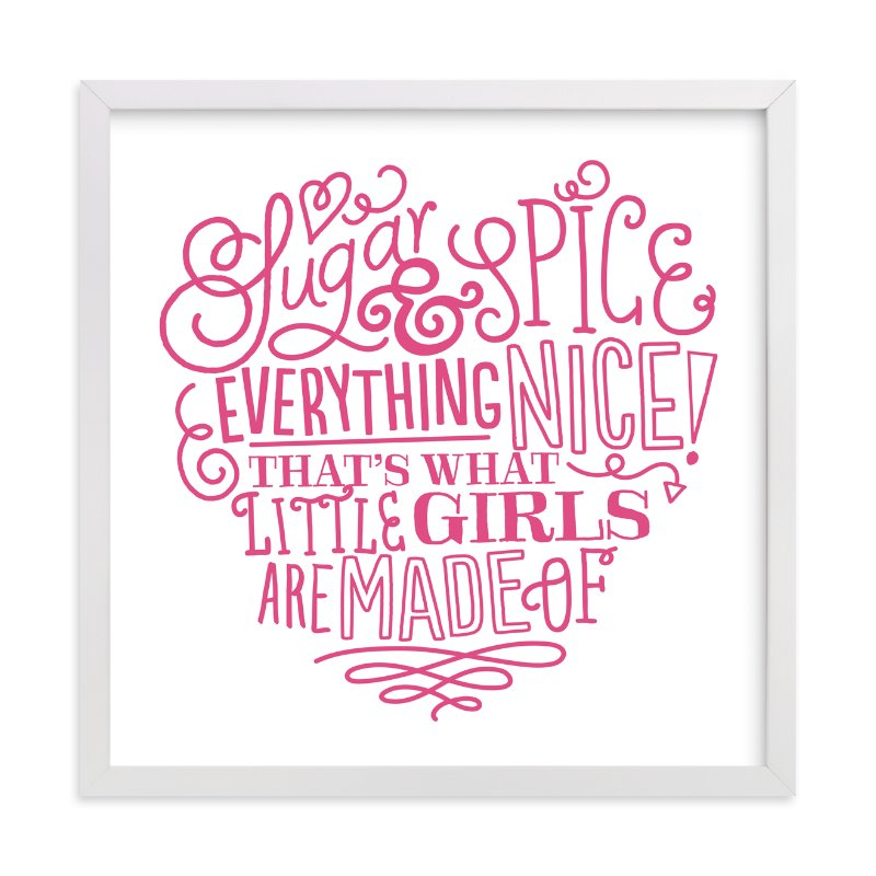 """Everything Nice"" - Art Print by Jessie Steury in beautiful frame options and a variety of sizes."