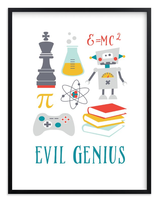 """""""Evil Genius"""" - Art Print by Katie Zimpel in beautiful frame options and a variety of sizes."""