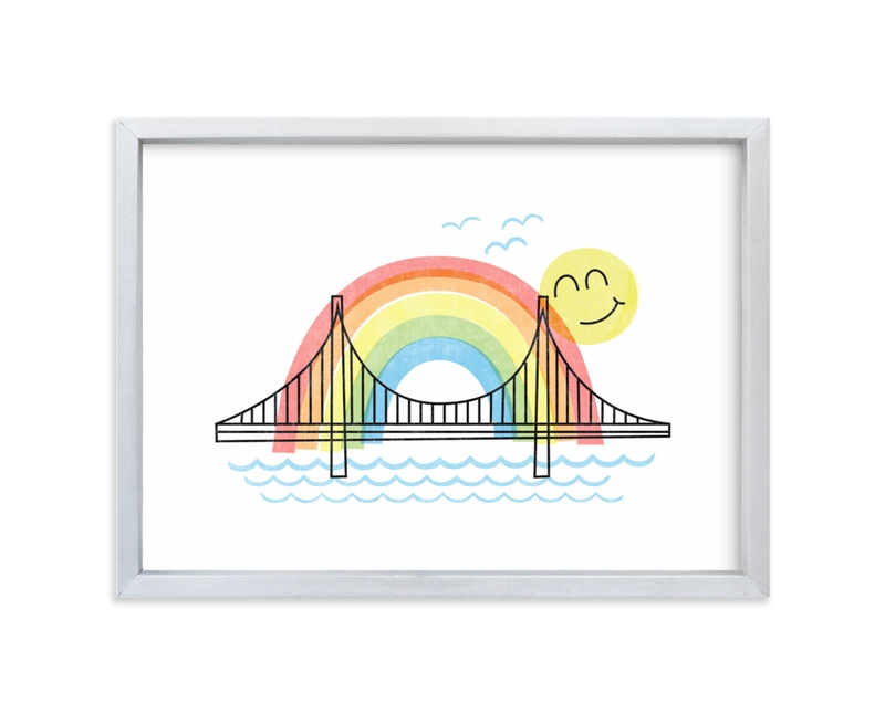 """Rainbows & Sunshine"" - Art Print by Jessie Steury in beautiful frame options and a variety of sizes."
