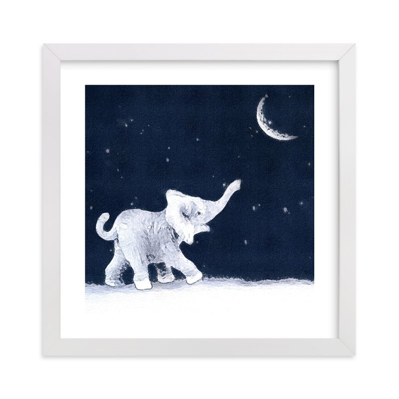 """Moon Balloon"" - Art Print by Maja Cunningham in beautiful frame options and a variety of sizes."