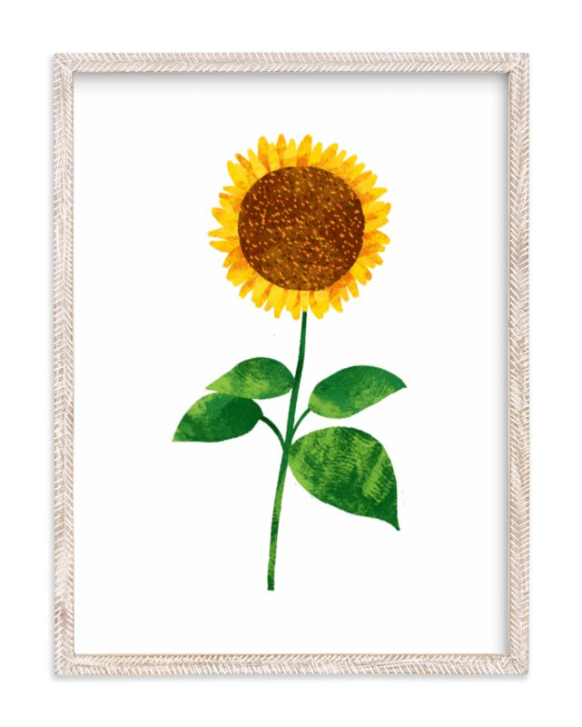 """Hello, Sunflower!"" - Art Print by Evelline Andrya in beautiful frame options and a variety of sizes."