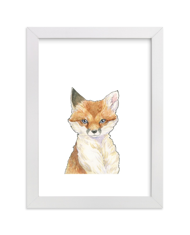 """""""Keen Kit"""" - Art Print by Natalie Groves in beautiful frame options and a variety of sizes."""