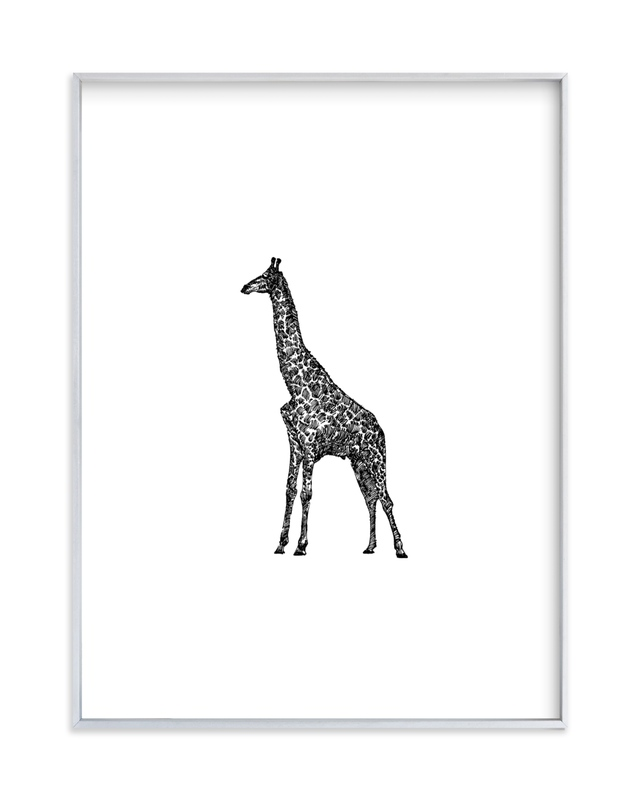 """Girafe"" - Art Print by IMG_101 in beautiful frame options and a variety of sizes."