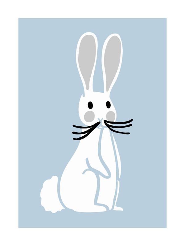 Nursery Bunny Wall Art Prints by Luz Alliati | Minted
