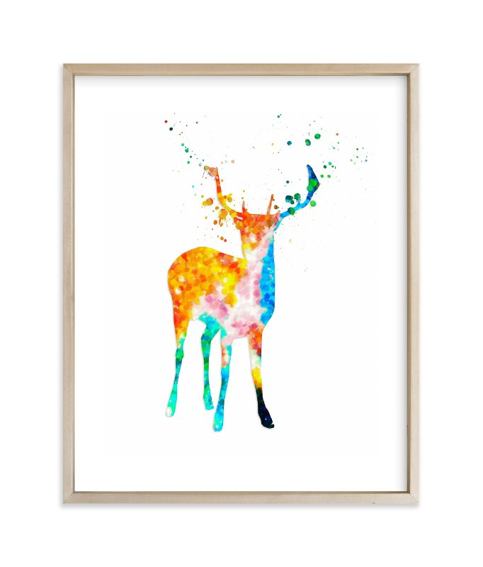 """Oh, My Deer..."" - Art Print by Alex Isaacs Designs in beautiful frame options and a variety of sizes."